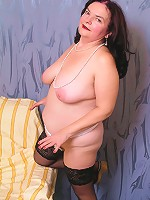 Mature plump will show you her pussy