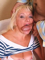 Blonde mature chick getting it hard from behind