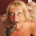 Old granny goes gaga for big black cock!