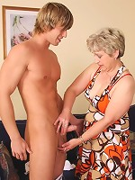 Young man comes into her apartment and they have beautiful grandma sex all night