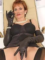Leather glove wank