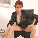 Silk lingerie mature