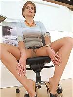 Pantyhose office boss